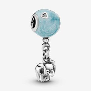 🌸Pandora Elephant and Blue Balloon Dangle Charm
